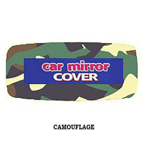 Fuzzy Rearview Mirror Cover - Camo