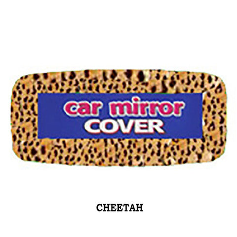 Fluffy Rear View Mirror Cover - Cheetah