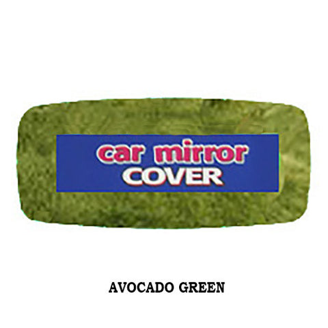 Fluffy Rear View Mirror Cover - Avocado Green