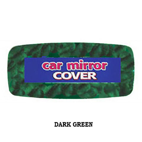 Fuzzy Rearview Mirror Cover - Dark Green