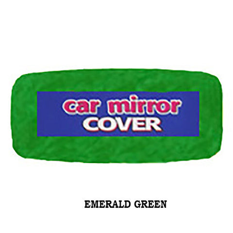 Plush Rearview Mirror Cover - Emerald Green