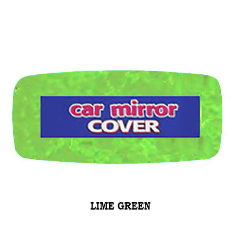 Furry Rearview Mirror Cover -  Lime Green