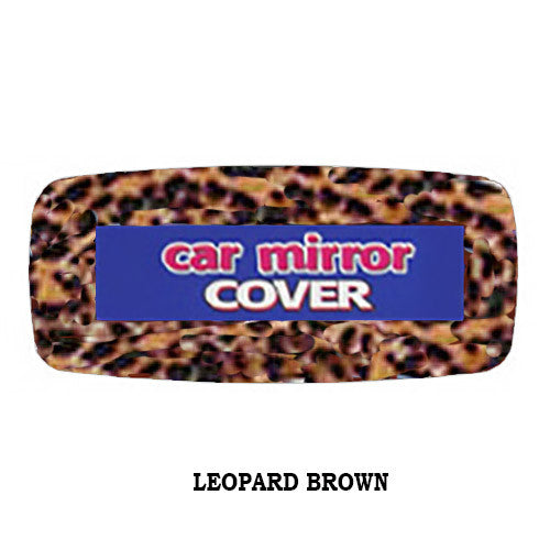 Fuzzy Rear View Mirror Cover Leopard Brown Fuzzy Dice Shop