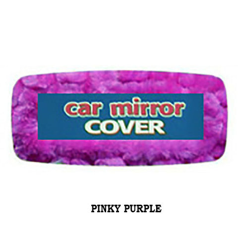 Fluffy Rearview Mirror Cover - Pinky Purple