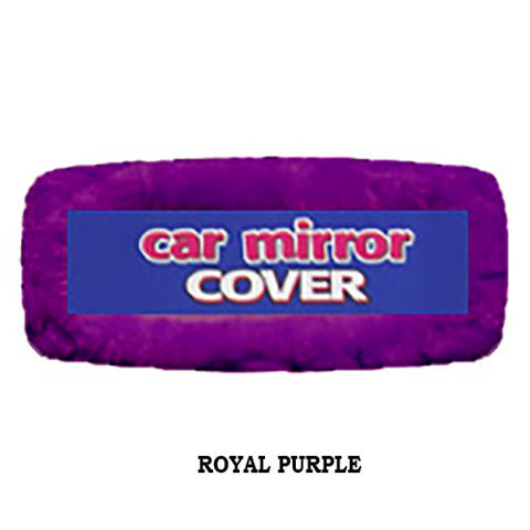 Fuzzy Rearview Mirror Cover - Royal Purple
