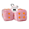4 Inch Pink Fuzzy Car Dice