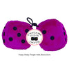4 Inch Pinky Purple Plush Dice with Black Dots