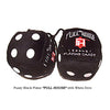 "3 Inch Black ""FULL HOUSE"" Poker Fluffy Dice"