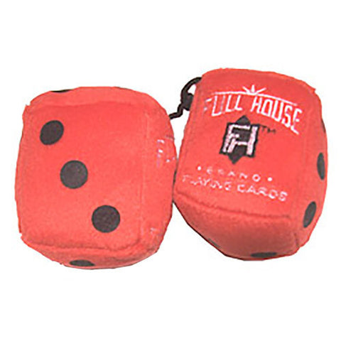 "3 Inch Red ""FULL HOUSE"" Poker Plush Dice"
