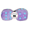 4 Inch Lavender Purple Fluffy Dice