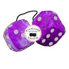 4 Inch Royal Purple Fuzzy Dice