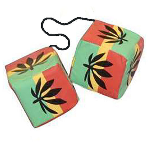 3 Inch Rastafarian Vinyl-Sided Dice
