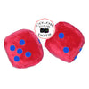 3 Inch Red Fuzzy Car Dice