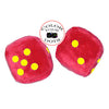 4 Inch Red Fuzzy Car Dice