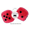 4 Inch Red Fuzzy Car Dice with Black Dots