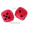 2 Inch Red Fuzzy Dice with Black Dots