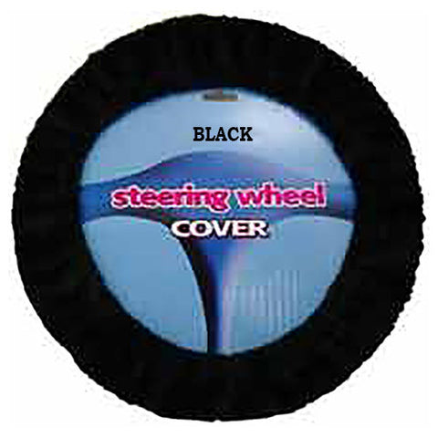 Fuzzy Steering Wheel Cover - Black