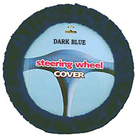 Fuzzy Steering Wheel Cover - Dark Blue