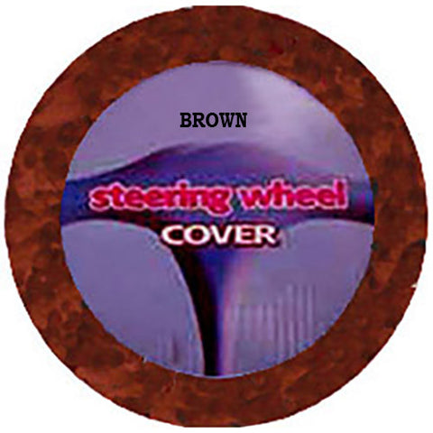Fuzzy Steering Wheel Cover - Brown