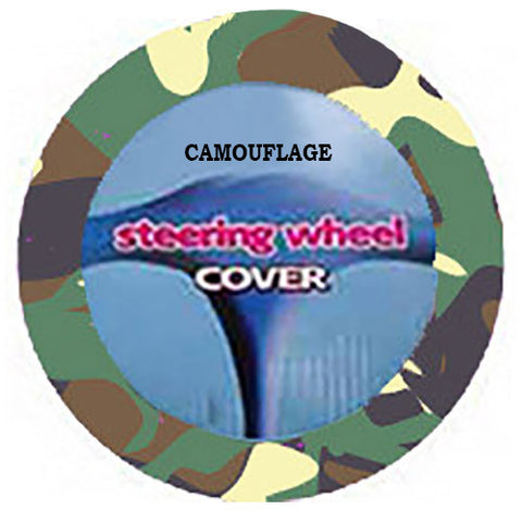Fuzzy Steering Wheel Cover - Camo
