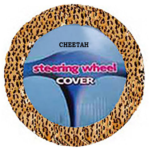 Fuzzy Steering Wheel Cover - Cheetah