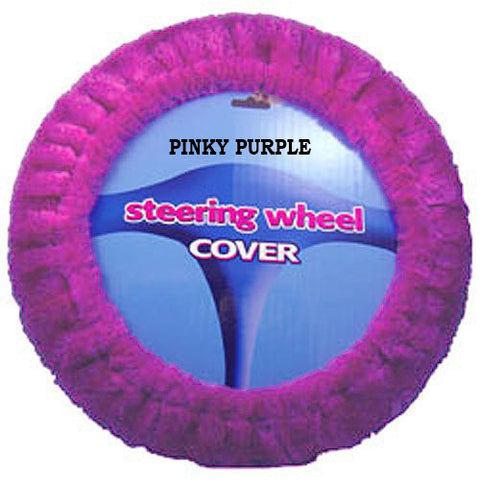 Plush Steering Wheel Cover - Pinky Purple