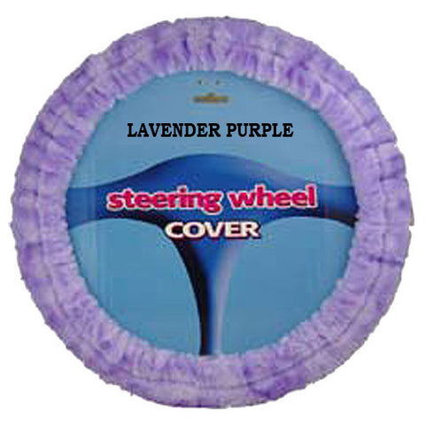 Furry Steering Wheel Cover - Lavender Purple