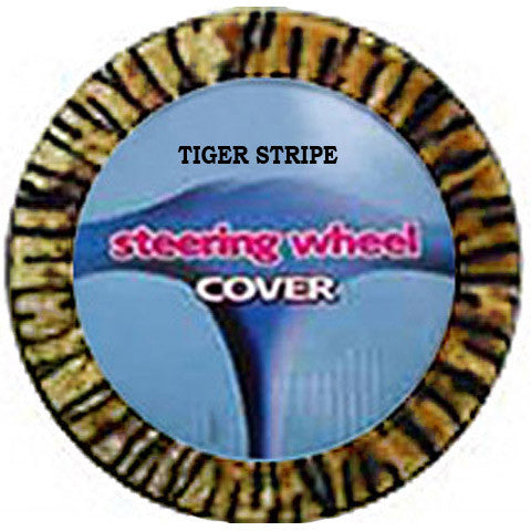 Fuzzy Steering Wheel Cover - Tiger Stripe