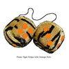 3 Inch Tiger Fuzzy Dice with Orange Dots