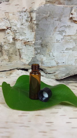 Essential Oil Glass Sample or Travel Bottle