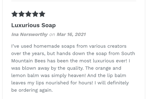Soap Review - Ina