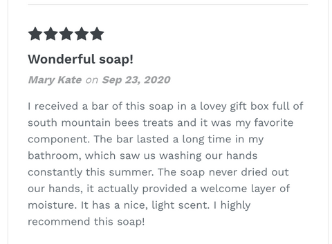 Soap Review -Mary Kate