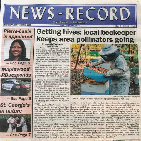 South Mountain Bees on the Front Page of the News Record