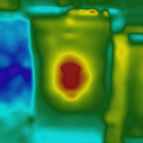 bees cluster in thermal image