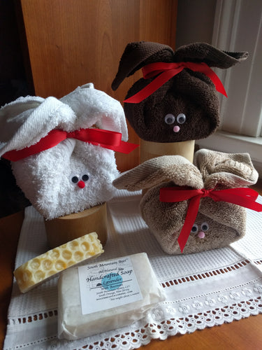 Soap and Washcloth Easter Bunnies