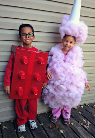 Lego and Cotton Candy Costume