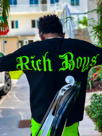 """Backed By Rich Boys"" Long Sleeve Tee"