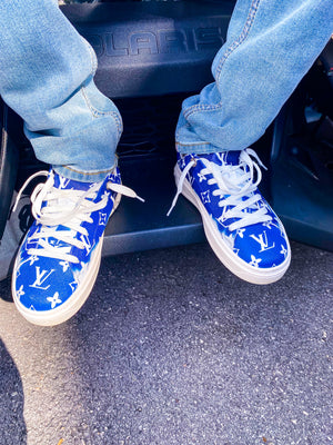 """Foot Work"" Sneakers Blue"