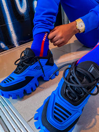 """Big Steppers"" Blue Sneakers"