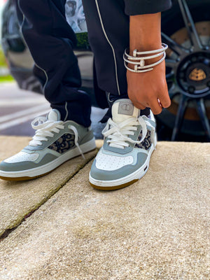 """Etched in Stone"" Dark Sneakers"