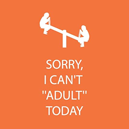 Sorry I Can't Adult Today Beverage Napkin