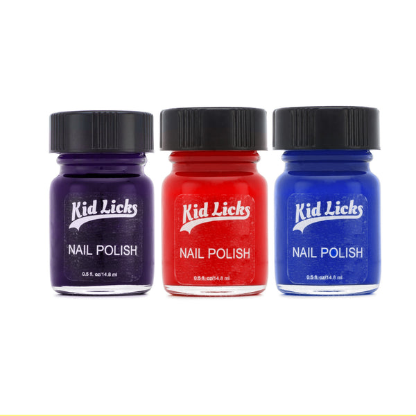 Berry Party Pack - 3 Edible Ingredient Nail Polish Colors