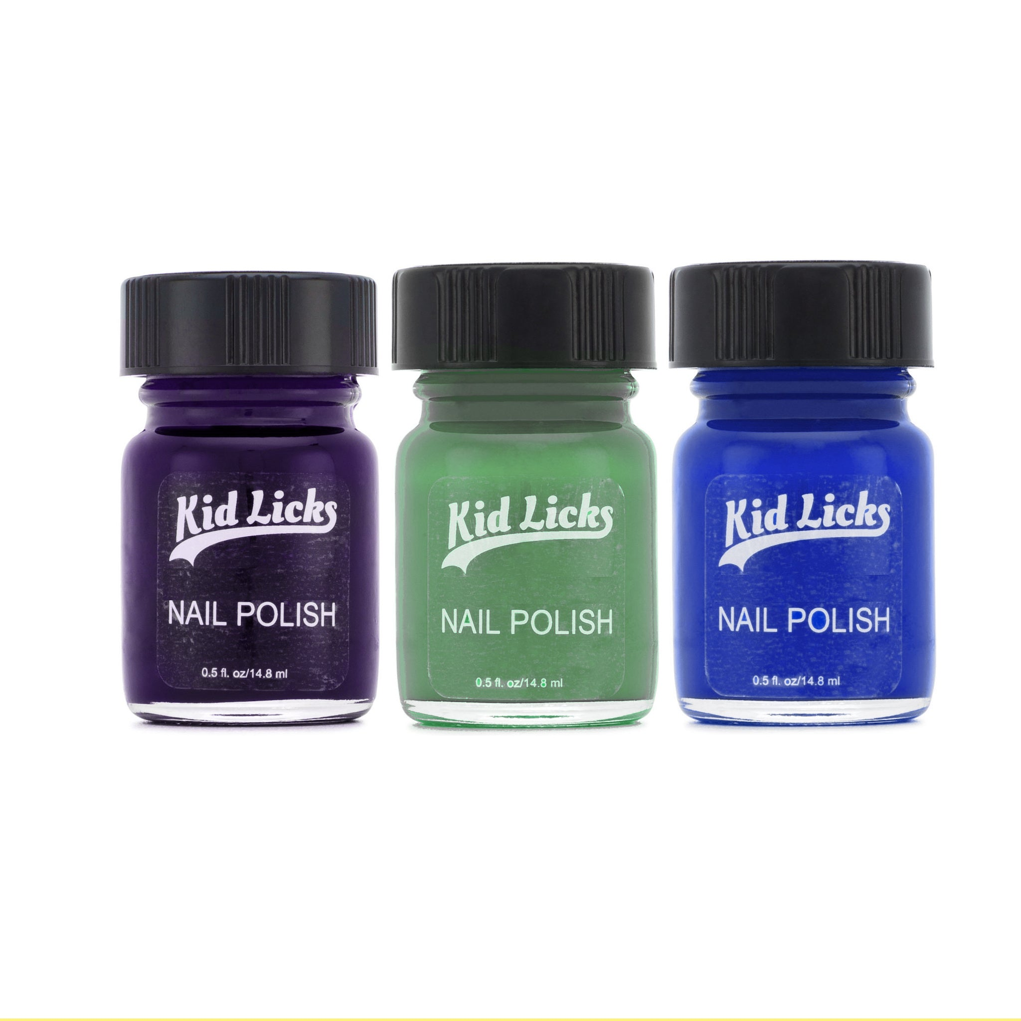 Cool Color Party Pack - 3 Edible Ingredient Nail Polish Colors