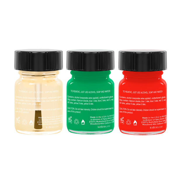 Fa La La Seasonal Pack - 3 Edible Ingredient Nail Polish Colors