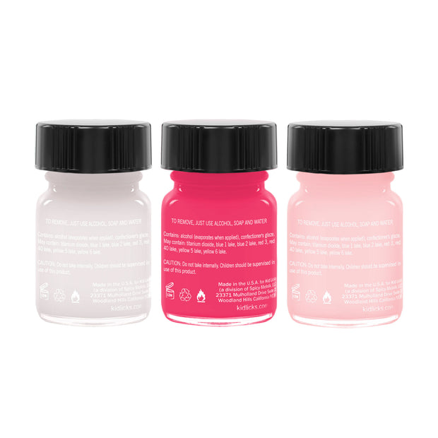 Bright Light Party Pack - 3 Edible Ingredient Nail Polish Colors