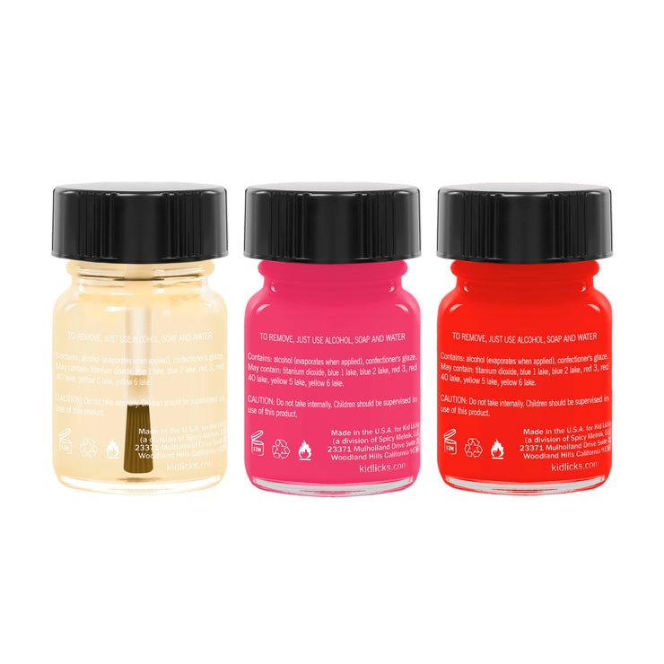 Go To Party Pack - 3 Edible Ingredients Nail Polish Colors