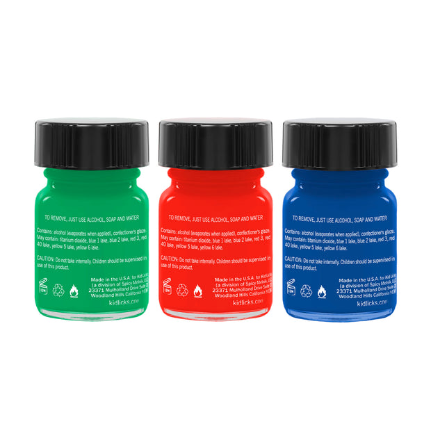 Holiday Party Pack - 3 Edible Ingredient Nail Polish Colors