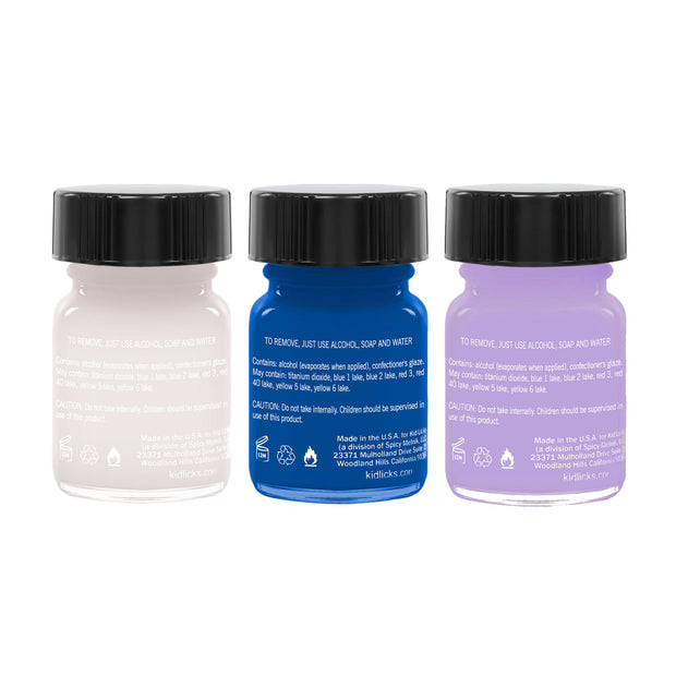 Winter Party Pack - 3 Edible Ingredient Nail Polish Colors