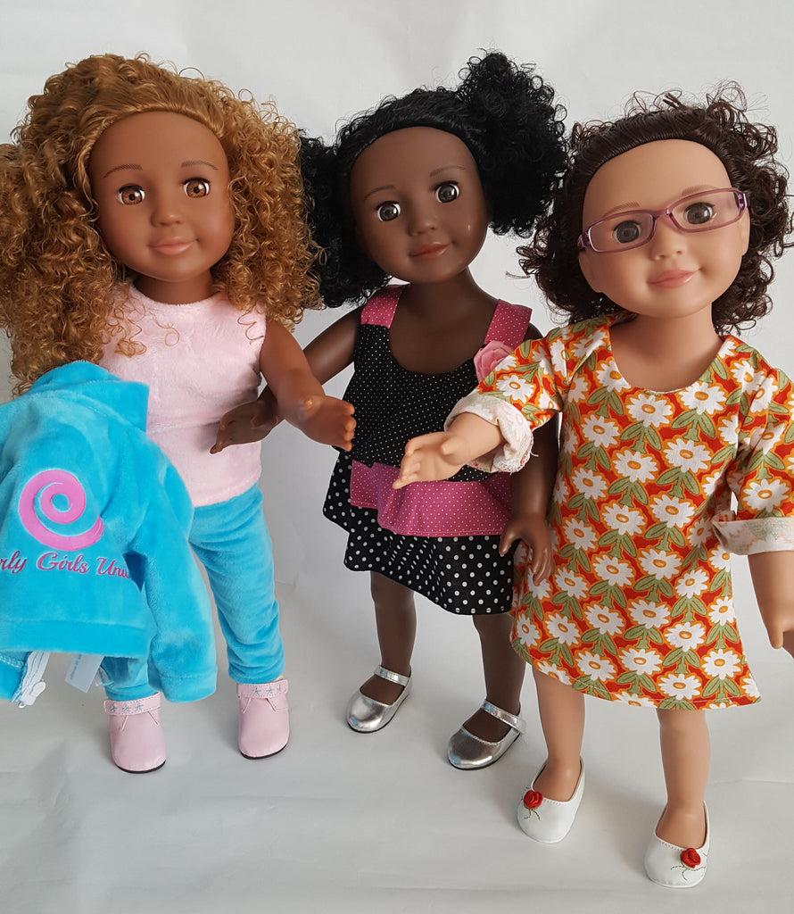 Special Deluxe package includes Bonus outfit for each doll!