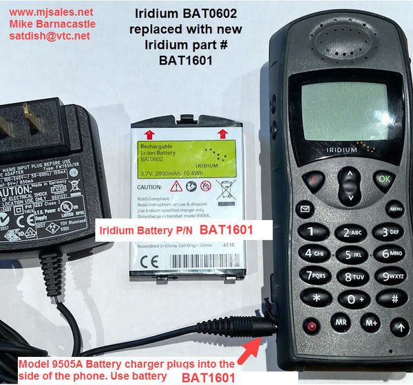 BAT1601 BAT0602 Iridium batteries